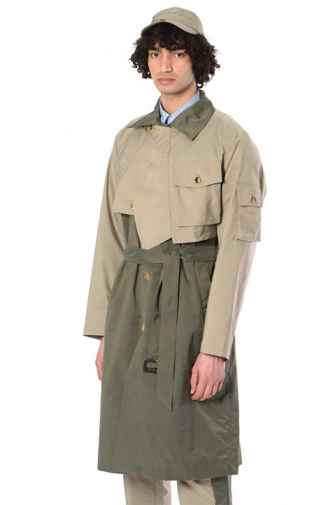 FENG CHEN WANG Panelled Trench Coat  0