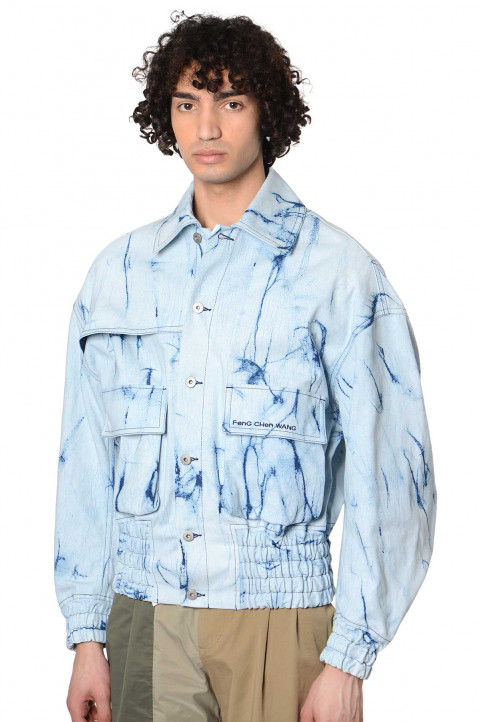FENG CHEN WANG Resist Dyed Denim Jacket 0