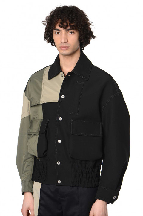 FENG CHEN WANG Nylon Panelled Jacket  0