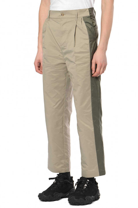 FENG CHEN WANG Khaki Panelled Trousers  0