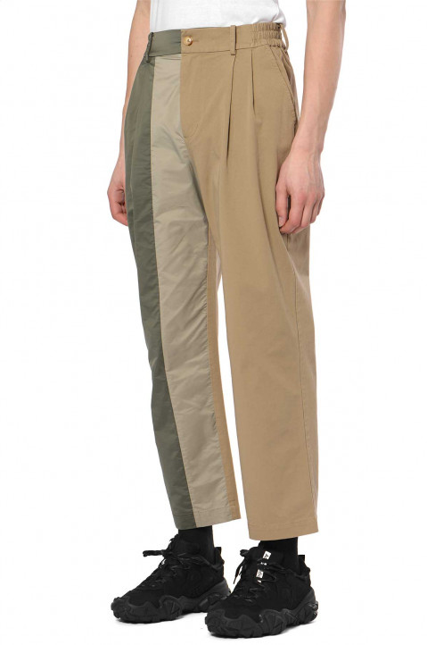 FENG CHEN WANG Cotton Panelled Trousers 0