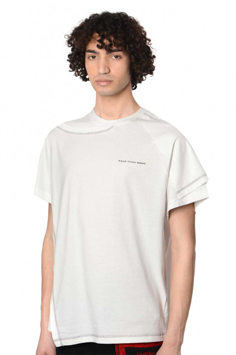 FENG CHEN WANG 2-In-1 White Tee  0