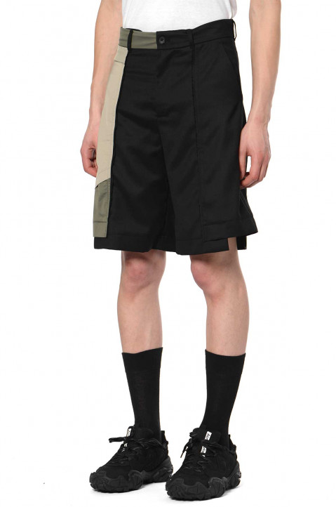 FENG CHEN WANG Wool Panelled Shorts  0