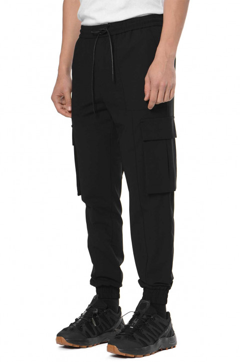 JUUN.J Black Wool Cargo Sweatpants 0