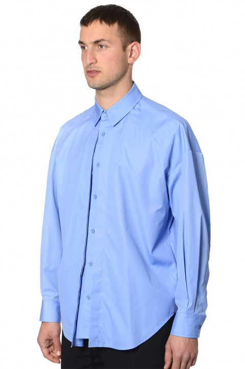 JUUN.J Double-Layer Blue Shirt 0