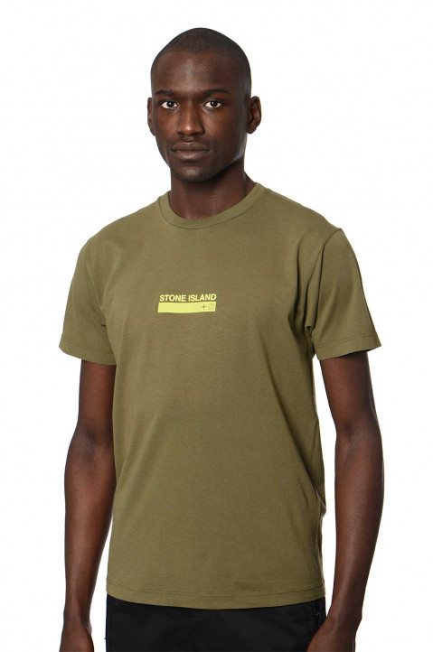 "STONE ISLAND Olive ""Small Logo One"" Tee 0"