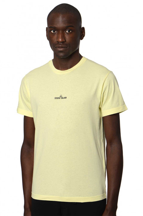 "STONE ISLAND Lemon ""Marble Three"" Tee  0"