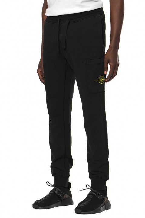 STONE ISLAND Black Zipped Cargo Sweatpants 0