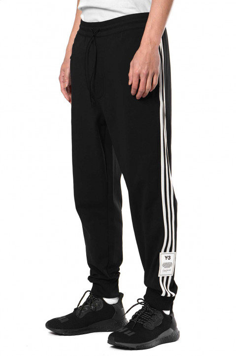 Y-3 3Stripes Terry Black Joggers 0