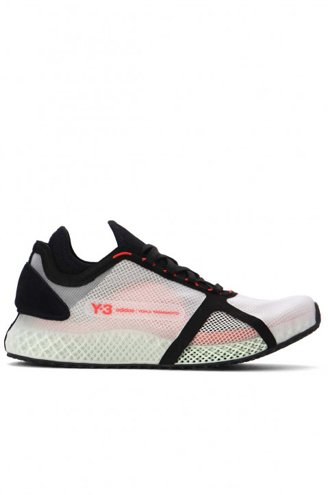 Y-3 Runner 4D IOW White/Black/Red Sneakers 0