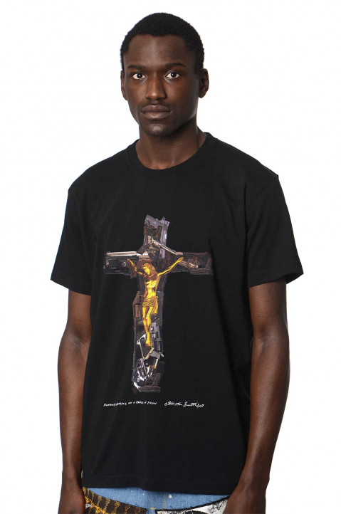 KIDILL X WINSTON SMITH Humanity Hanging Black Tee 0