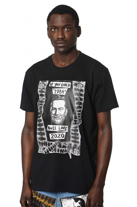 KIDILL X WINSTON SMITH 1984/2020 Black Tee  0