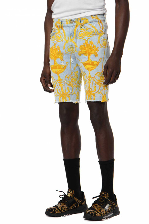 VERSACE JEANS COUTURE Baroque Denim Shorts 0