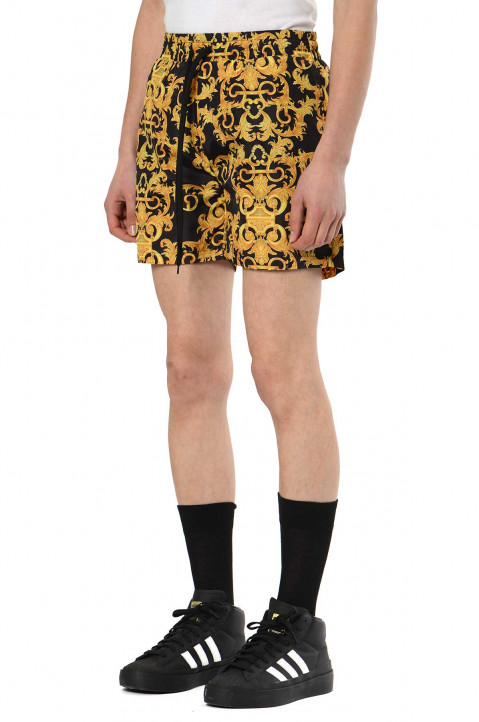 VERSACE JEANS COUTURE Baroque Black Nylon Shorts 0