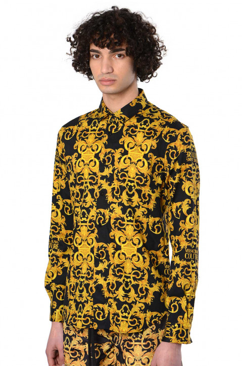 VERSACE JEANS COUTURE Print Baroque Black Shirt  0
