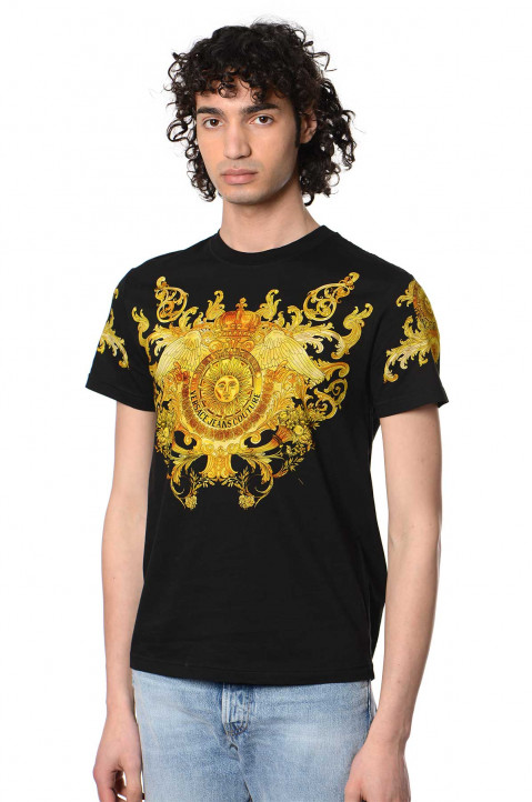VERSACE JEANS COUTURE Baroque Black T-shirt  0