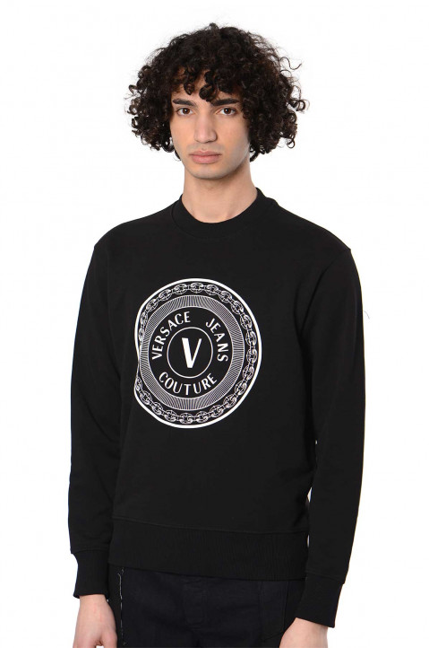 VERSACE JEANS COUTURE Round Logo Light Black Sweater 0