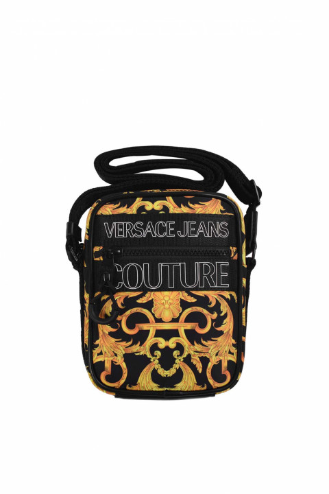 VERSACE JEANS COUTURE Baroque Blackt Crossbody Bag 0