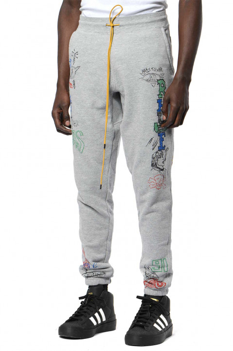 RHUDE Doodle Grey Joggers  0