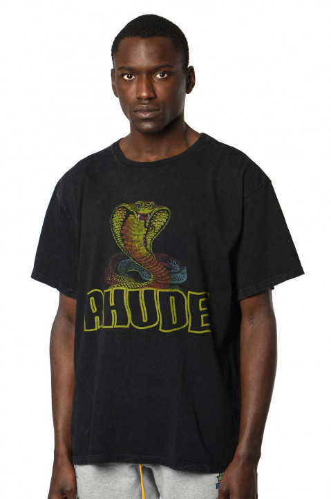 RHUDE Cobra Black Tee 0