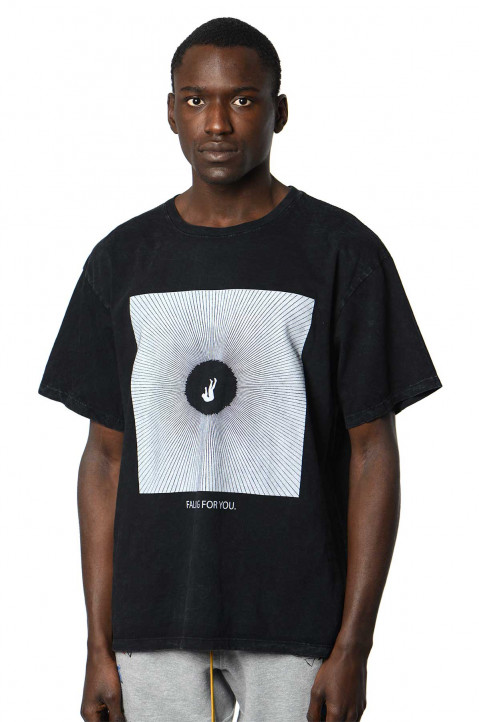 RHUDE Falling For You Black Tee 0