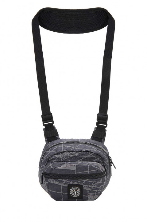 STONE ISLAND Reflective Grid On Lamy Chest Bag 0