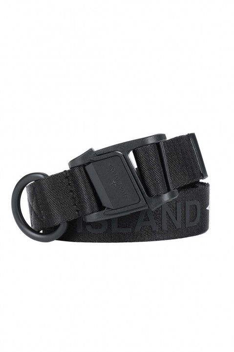 STONE ISLAND Black Nylon Belt 0