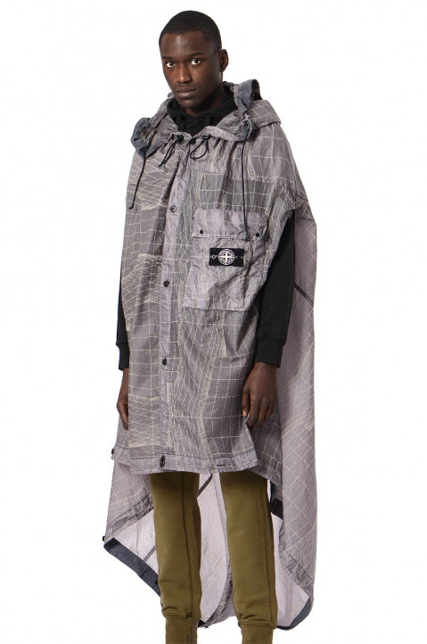 STONE ISLAND Reflective Grid On Lamy-TC Packable Cape 0