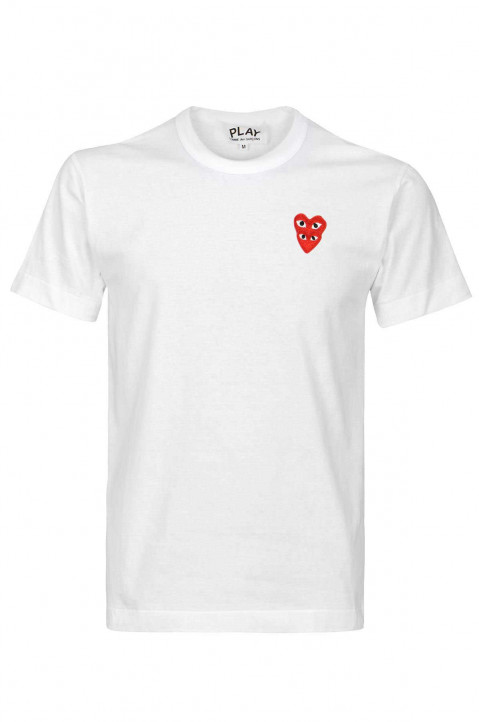 COMME DES GARÇONS PLAY Double-Hearth White Tee 0