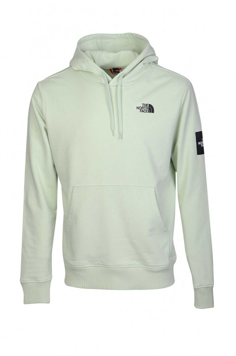 THE NORTH FACE Light Green Box Fleece Hoodie 0