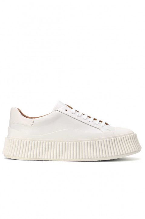 JIL SANDER Off-White Vulcanized Sneakers 0