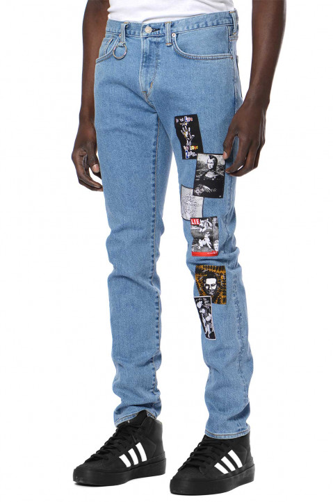 KIDILL X EDWIN Slim Patch Blue Jeans  0