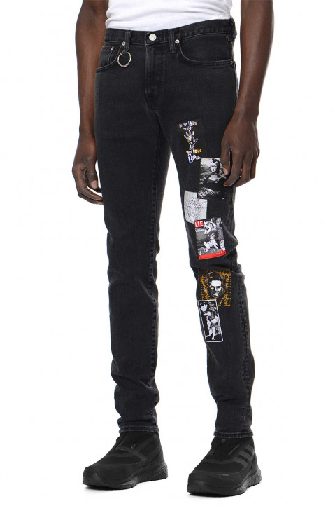 KIDILL X EDWIN Slim Patch Black Jeans 0
