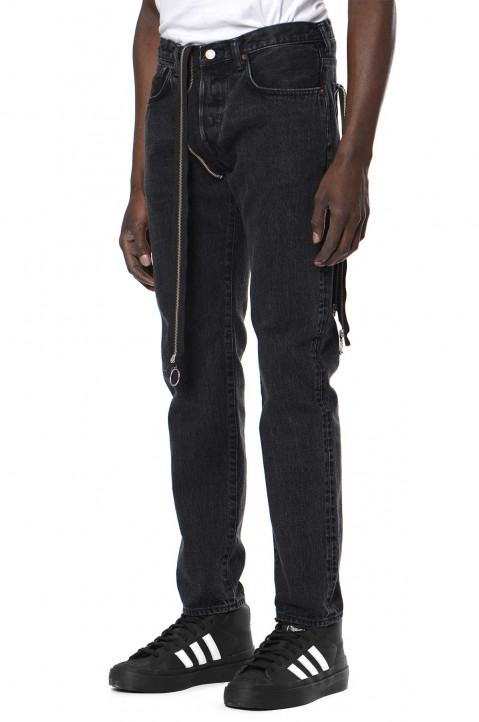 KIDILL X EDWIN Tapered Black Zip Jeans  0