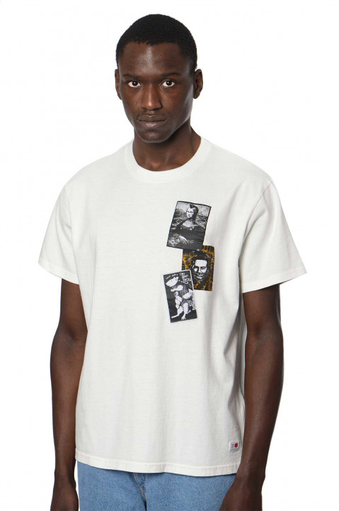 KIDILL X EDWIN Patches White T-shirt 0