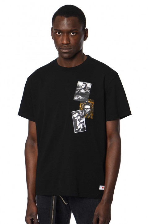 KIDILL X EDWIN Patches Black T-shirt 0