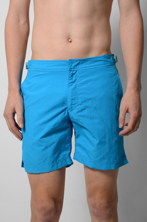 OLEBAR BROWN Setter Turquoise Shorts  1