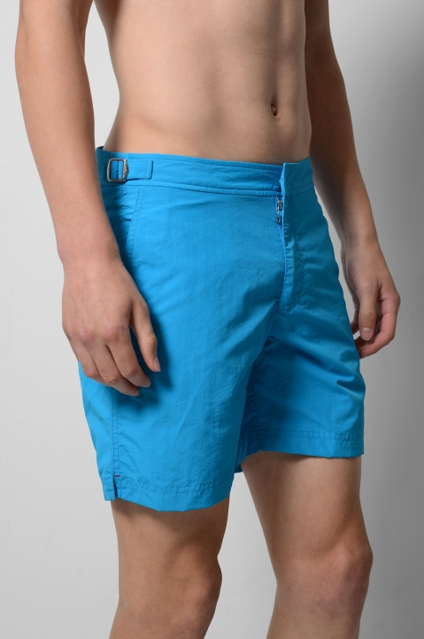 OLEBAR BROWN Setter Turquoise Shorts  2