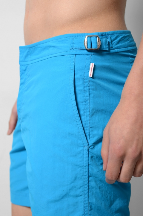 OLEBAR BROWN Setter Turquoise Shorts  4