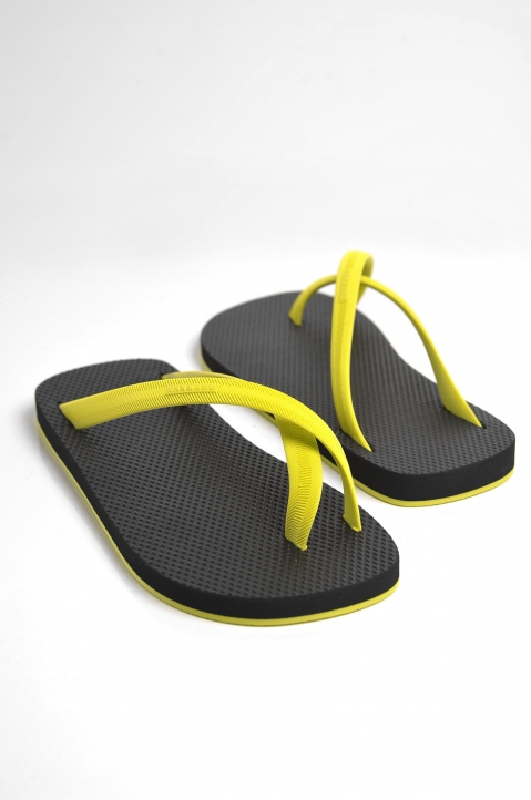 Lemon Bi-Colored Rubber Flip Flop  0