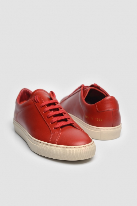 COMMON PROJECTS 1854 Original Achilles Vintage Low Red Sneakers 1