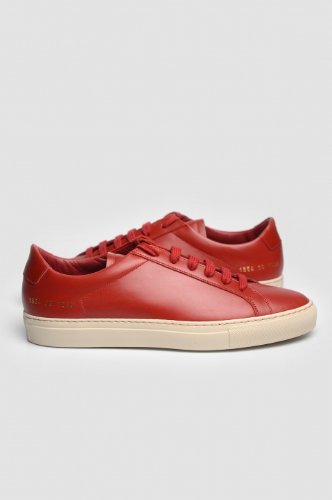COMMON PROJECTS 1854 Original Achilles Vintage Low Red Sneakers 2