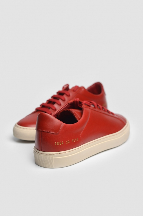 COMMON PROJECTS 1854 Original Achilles Vintage Low Red Sneakers 3