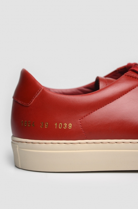 COMMON PROJECTS 1854 Original Achilles Vintage Low Red Sneakers 4