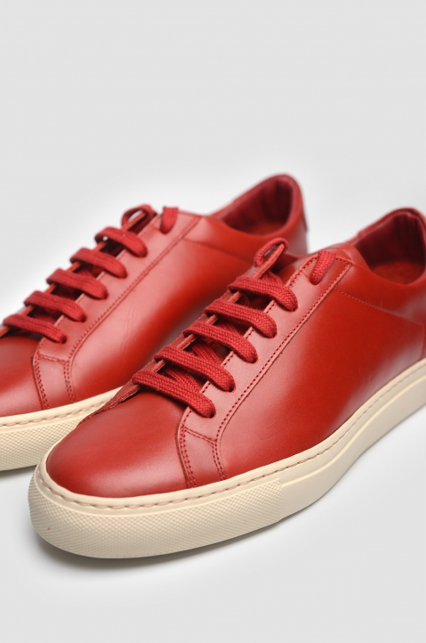 COMMON PROJECTS 1854 Original Achilles Vintage Low Red Sneakers 5