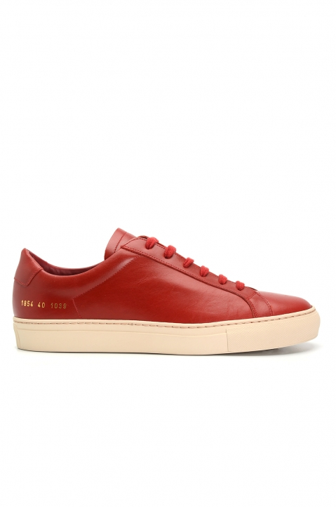 COMMON PROJECTS 1854 Original Achilles Vintage Low Red Sneakers 0