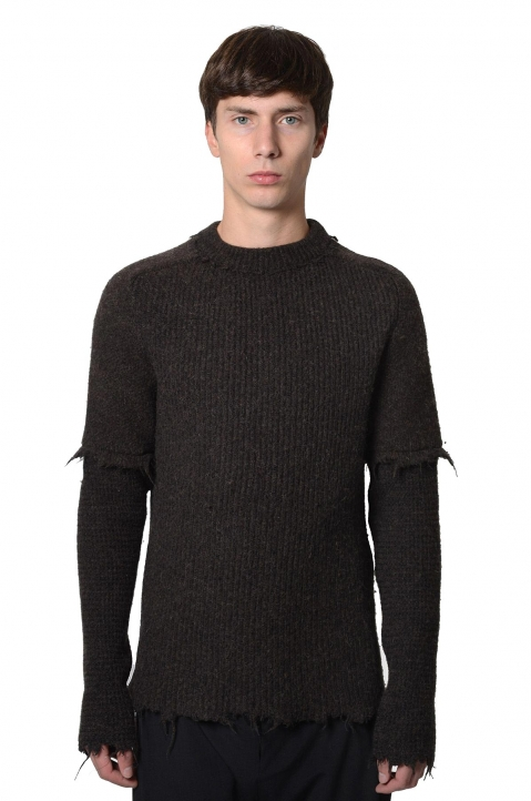 DAMIR DOMA Brown Wool Kerkoni Jumper 0