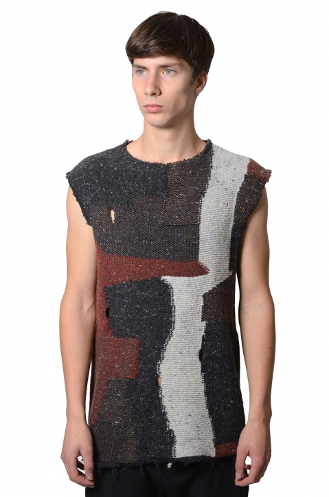 DAMIR DOMA Wool Kesor Sleeveless Jumper 0