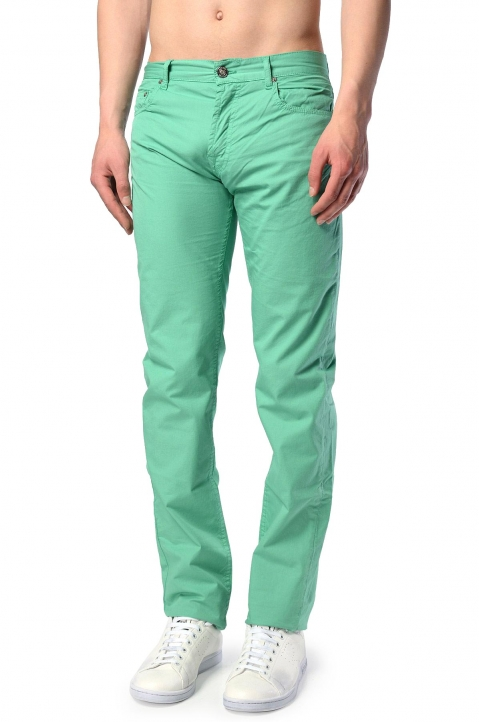 KENZO Slim-Fit Green 5-Pocket Trousers 0