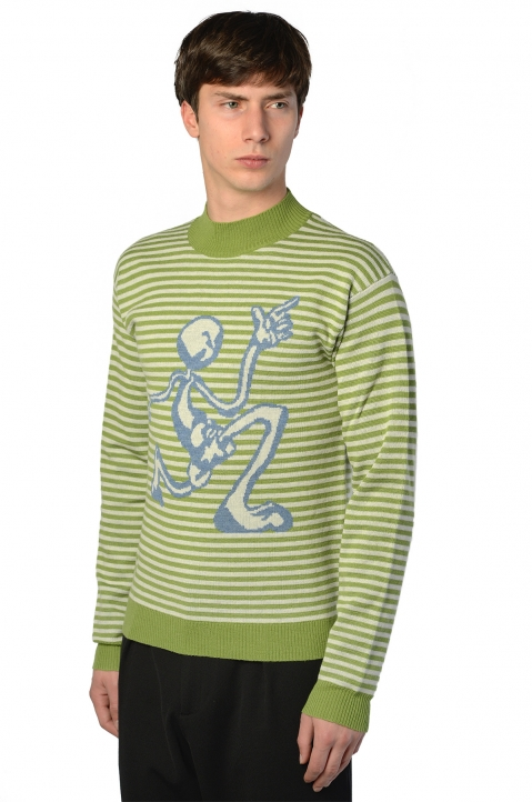 J.W.ANDERSON Mercury Man Green Sweater 0